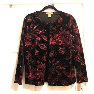 Notations Holiday jacket with attached shirt